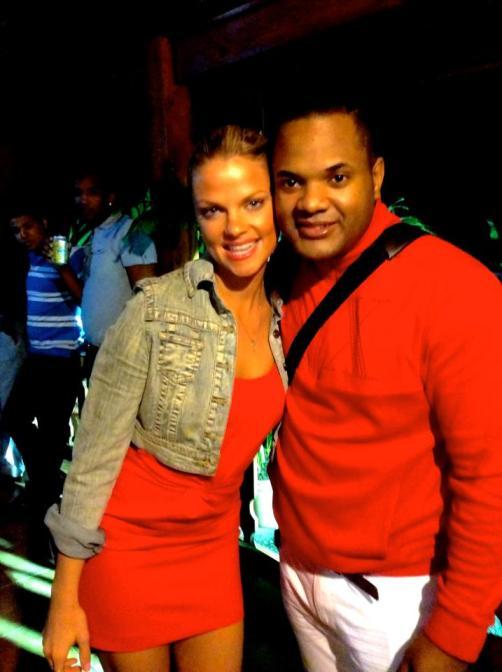 Alex y yo antes del nuestro show en Loma de Cabrera