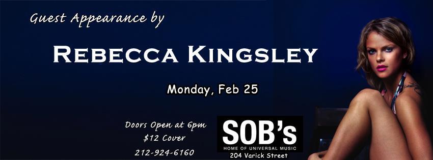 Rebecca Kingsley SOB's New York